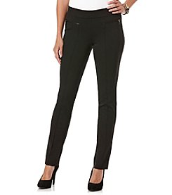 Rafaella® Ponte Comfort Pant with Zipper Pockets