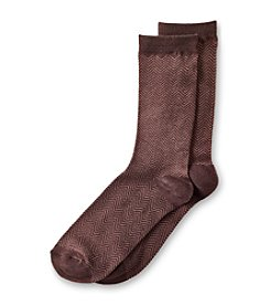 Relativity® Herringbone Crew Socks