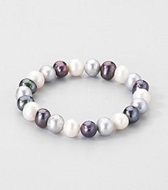 Multi-Colored Genuine Freshwater Pearl Stretch Bracelet