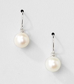 Sterling Silver Genuine Freshwater Pearl Drop Earrings