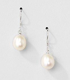 Sterling Silver Genuine Freshwater Pearl Drop Earrings