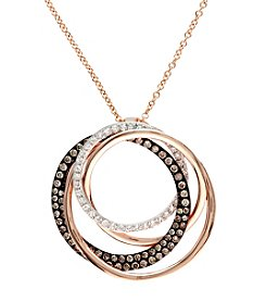 Effy® .43 ct. t.w. Diamond Pendant in 14K Rose Gold