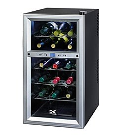 Kalorik 18-Bottle Dual Zone Wine Cooler