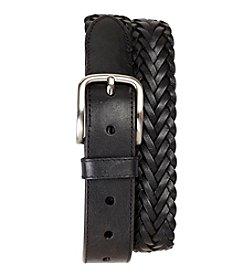 Harbor Bay® Men's Big & Tall Black Braided Leather Belt