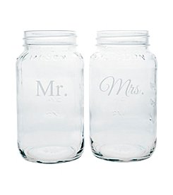 Cathy's Concepts Mr. and Mrs. 26-oz. Ball Jar Set
