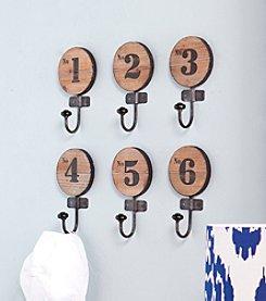 Southern Enterprises Dakota 6-pc. Numbered Hook Set