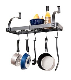 Enclume Bookshelf Rack with Pot Rack