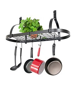 Enclume Oval Ceiling Hanging Pot Rack with Grid