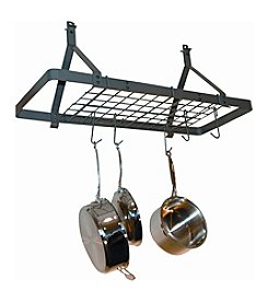 Enclume Rectangle Ceiling  Hanging Pot  Rack with Grid