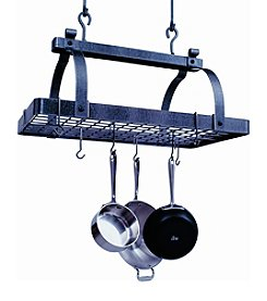 Enclume Classic Rectangle Hanging Pot Rack with Grid