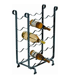 Enclume Hammered Steel Wine Storage Rack