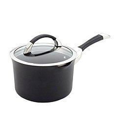 Circulon®  Symmetry 3.5-qt. Black Hard Anodized Nonstick Straining Saucepan