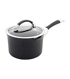 Circulon®  Symmetry 3.5-qt. Black Hard Anodized Nonstick Straining Saucepan