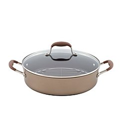 Anolon® Advanced 5.5-qt. Bronze Hard-Anodized Nonstick Covered Braiser with Rack