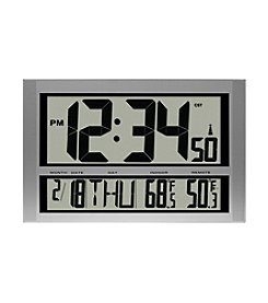 La Crosse Technology® Jumbo Atomic Digital Wall Clock with Indoor Temperature Display
