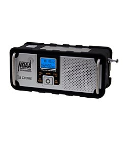La Crosse Technology®  NOAA AM/FM Hand Crank/Solar Powered Severe Weather Alert Radio