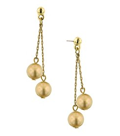 1928® Jewelry Classic Golden Pearl Drop Earrings