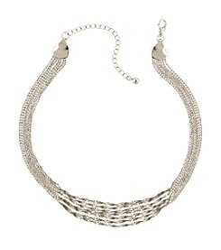 1928® Jewelry Silvertone Multi-Chain Statement Necklace