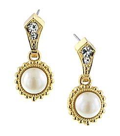 1928® Jewelry Venetian Pearl Encased Vintage Drop Earrings