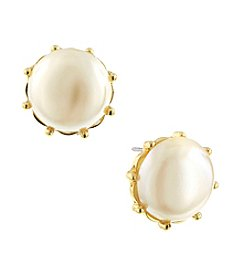 1928® Jewelry Venetian Nautical Pearl Button Earrings