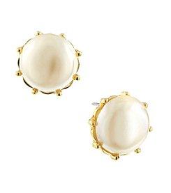 1928® Jewelry Venetian Nautical Pearl Button Earrings
