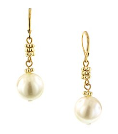 1928® Jewelry Venetian Goldtone Pearl Drop Earrings