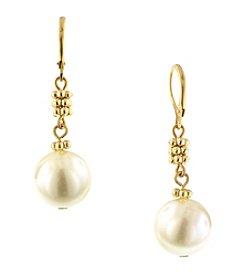 1928® Jewelry Venetian Goldtone Pearl Drop Earrings