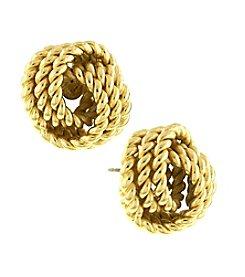 1928® Jewelry Cleopatra Goldtone Rope Love Knot Earrings