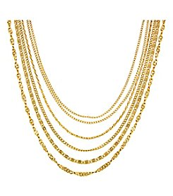 1928 Signature Cleopatra Layered Chain Necklace