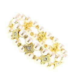 1928 Signature Venetian Pearl Double Strand Beaded Bracelet