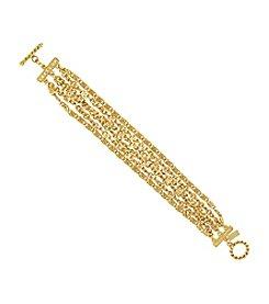 1928® Jewelry Cleopatra Scroll Link Chain Toggle Bracelet