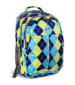 J World® Cornelia Argyle Navy Laptop Backpack
