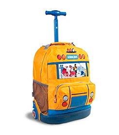 J World® School Bus Rolling Backpack