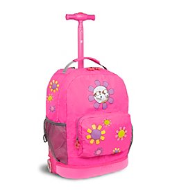 J World® Daisy Rolling Backpack
