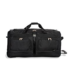 J World® Brighton Black Rolling Duffel Bag