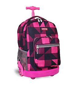 J World® Sunrise Block Rolling Backpack