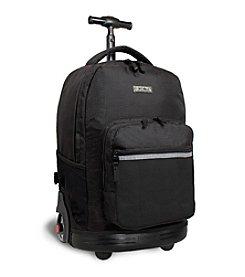 J World®  Sunrise Black Rolling Backpack