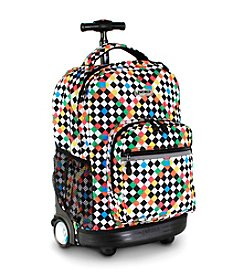 J World®  Sunrise Checkers Rolling Backpack