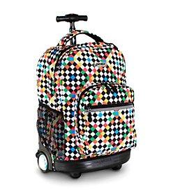 J World®  Sunrise Checkers Rolling Backpack