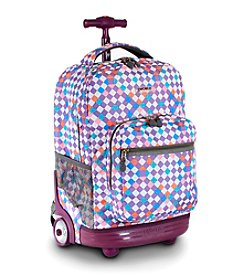 J World®  Sunrise Checkmate Rolling Backpack