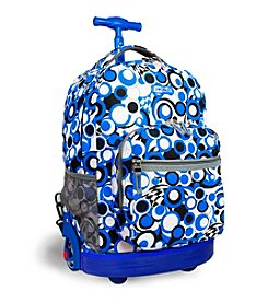 J World®  Sunrise Chess Blue Rolling Backpack