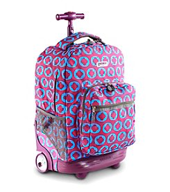 J World®  Sunrise Jlogo Rolling Backpack