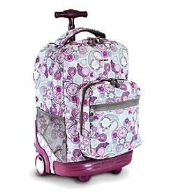 J World®  Sunrise Lemon Rolling Backpack