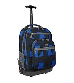 J World® Sundance Block Laptop Rolling Backpack