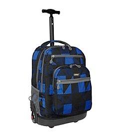 J World® Sundance Block Laptop Rolling Backpack