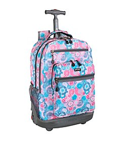 J World® Sundance Blue Raspberry Laptop Rolling Backpack