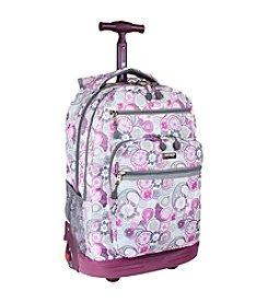 J World® Sundance Lemon Laptop Rolling Backpack