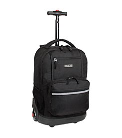 J World® Sunset Black Rolling Backpack
