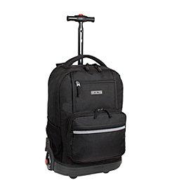 J World® Sunset Black Rolling Backpack