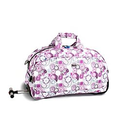 J World® Christy Lemon Rolling Duffel Bag